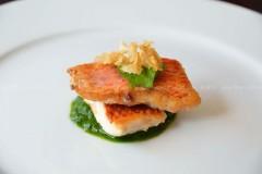 红鲣鱼和炸蒜片