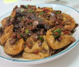 油豆腐蒸腊鱼