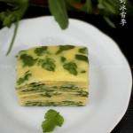 野芹菜叶鸡蛋饼(早餐菜谱)