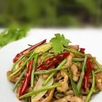 野芹菜炒肉