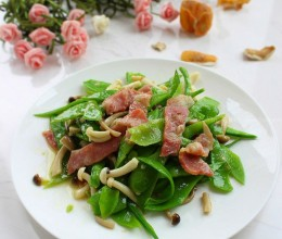 菌菇荷兰豆