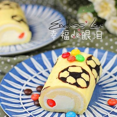 足球蛋糕卷