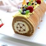 香草巴伐露百香果奶酪蛋糕卷(烘焙世界杯)