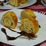 煎香蕉土司卷(早餐菜谱)