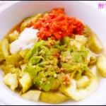 香蒜辣椒拌茄子(夏季开胃凉菜)