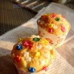 彩虹糖纸杯戚风蛋糕(甜品点心)