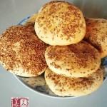 椒盐芝麻酥饼(早餐菜谱)