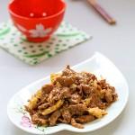 爆炒羊肉(醋溜苜蓿)