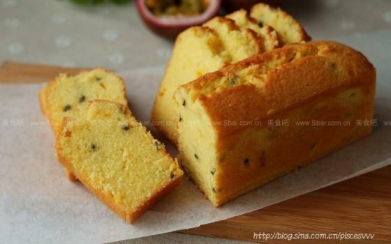 百香果磅蛋糕(甜品点心)