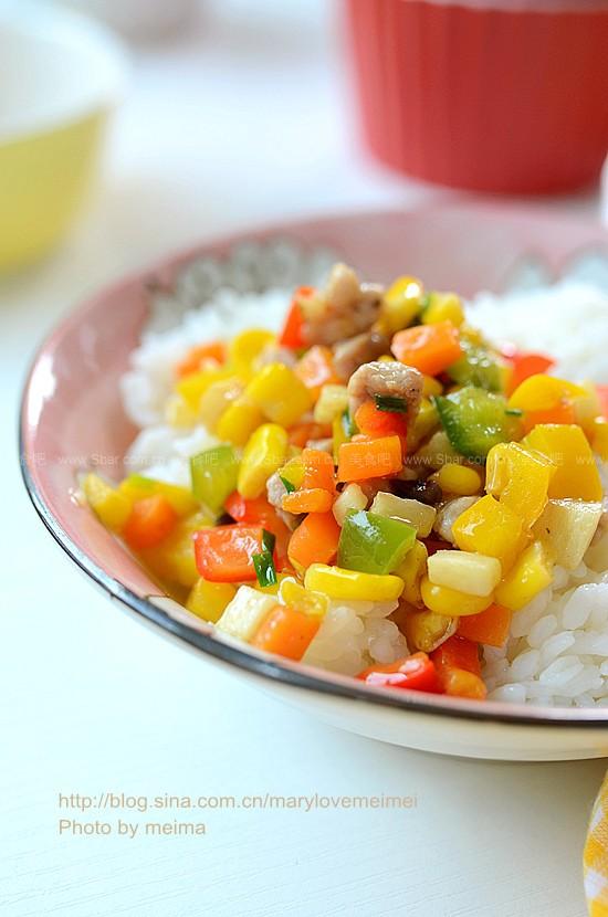 彩椒炒肉丁