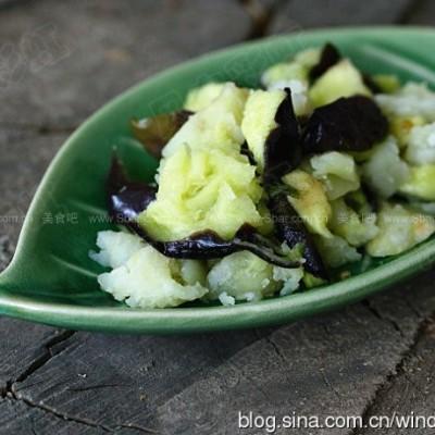 土豆拌茄泥