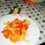 花菜炒海虾
