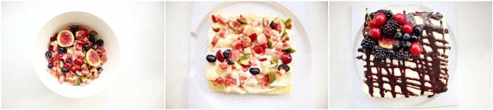 蛋糕卷水果蛋糕