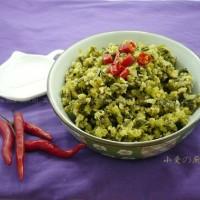 芹菜叶麦饭