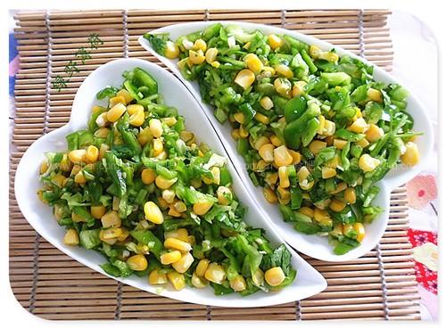 青椒甜玉米