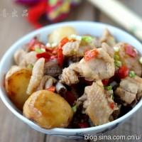 土豆剁椒蒸鸡块