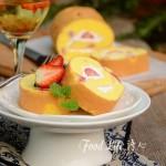 草莓奶油蛋糕卷(甜品点心)