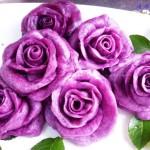 紫薯玫瑰馒头(七夕节应景面点)