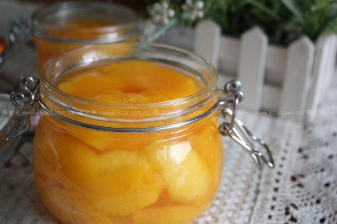 自制糖水黄桃罐头