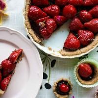 法式巧克力草莓塔