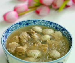 排骨粉丝菌菇汤