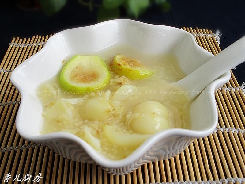 早餐无花果小米汤(泡菜材料)腌制百合的菜谱图片