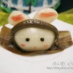 玫瑰馅糯米萌兔子(甜品点心)