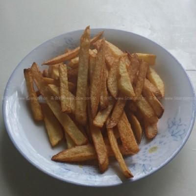 家庭自制美味薯條