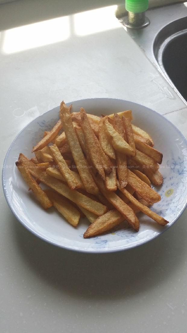 家庭自制美味薯条