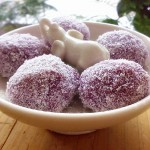 雪花紫薯圆子(甜品点心)