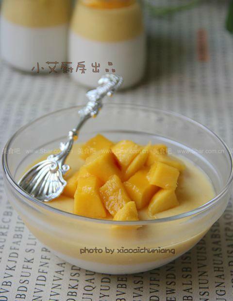 椰奶芒果布丁