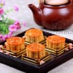手工莲蓉蛋黄月饼(中秋传统月饼)