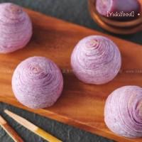 紫薯螺旋酥月饼