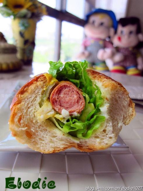 芥末番茄火腿堡