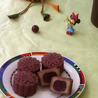 免烤奶香紫心月饼