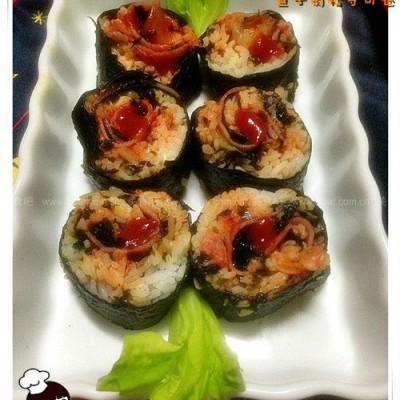 鱼子肉松寿司卷
