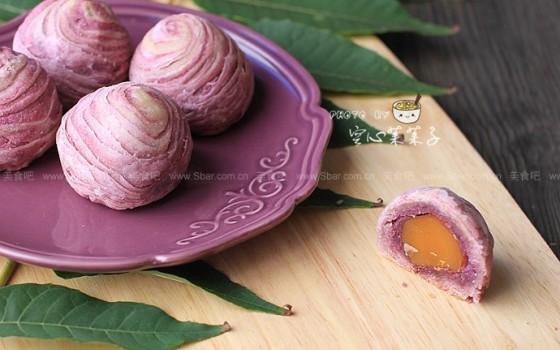 紫薯蛋黄酥(自制紫薯馅)
