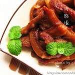 肉脂渣(自制青岛名小吃)