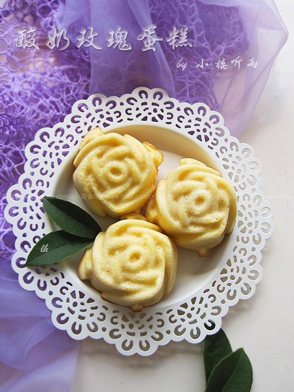酸奶黃油玫瑰蛋糕