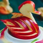芙蓉苹果的天鹅梦(水果拼盘)
