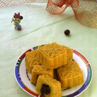 玉米面红薯枣泥月饼
