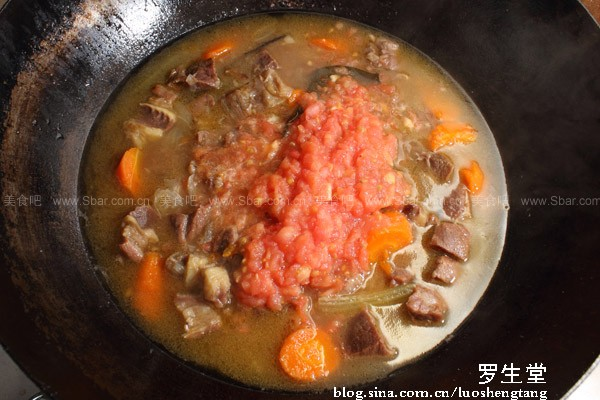 西红柿炖牛腩