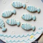 可爱的糖霜小鱼饼干(甜品点心)