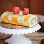 抹茶栗子蛋糕卷(甜品点心)