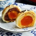 莲蓉蛋黄酥、豆沙蛋黄酥(甜品点心)