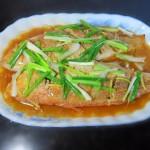 姜葱金丝鱼