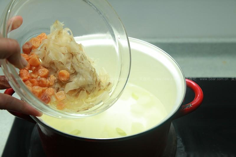 白海带干贝冬瓜汤