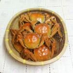 紫苏蒸大闸蟹