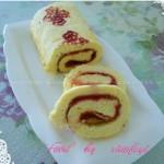 彩绘山楂酱蛋糕卷(甜品点心)