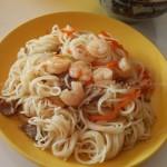 私房虾仁牛肉炒米线(早餐菜谱)